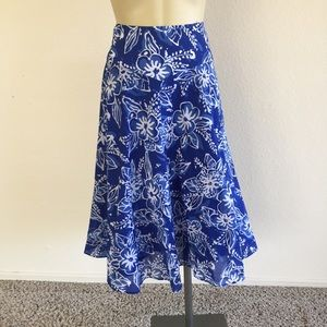 Jones New York Floral Cotton Skirt sz 16W!